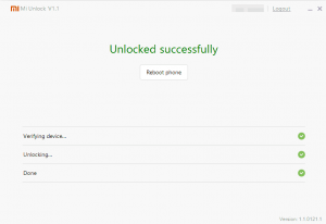 Unlock Bootloader Mi Flash Tool
