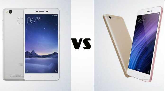 Xiaomi Redmi 4A vs Redmi 3s