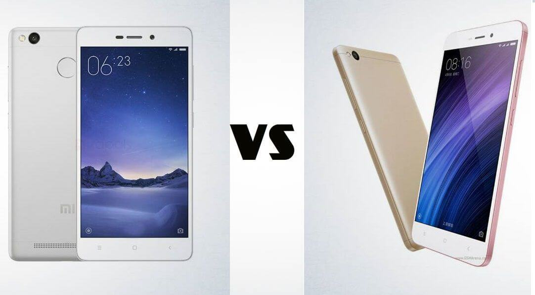 Xiaomi Redmi 4A vs Redmi 3s