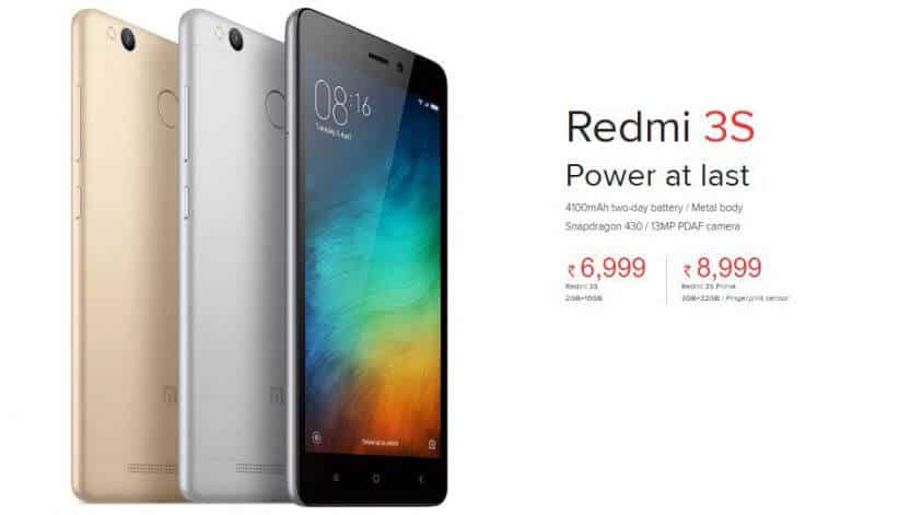 Redmi 4A vs Redmi 3s