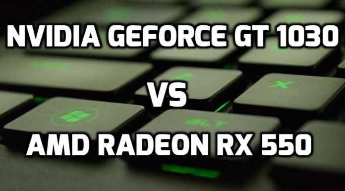 Nvidia Geforce GT 1030 vs AMD Radeon RX 550