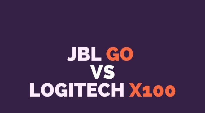 JBL GO vs Logitech X100 Comparison