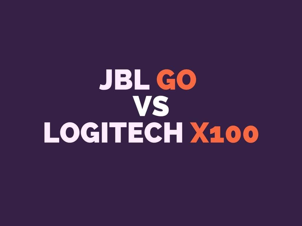JBL GO vs Logitech X100 Comparison
