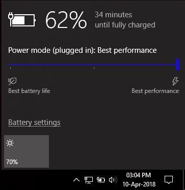 Windows Power Mode