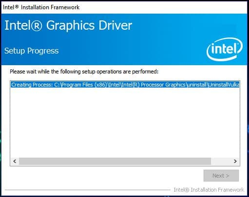 Intel (R) Graphics Driver