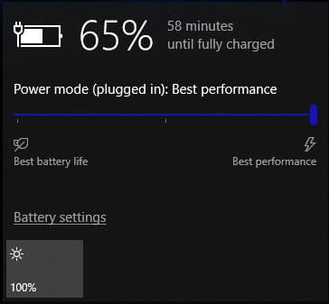 Windows Power Mode