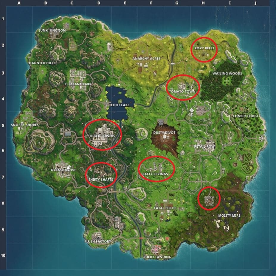 Fortnite Favourite Places for Practice