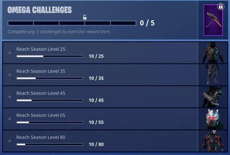 Fortnite Omega Challenges