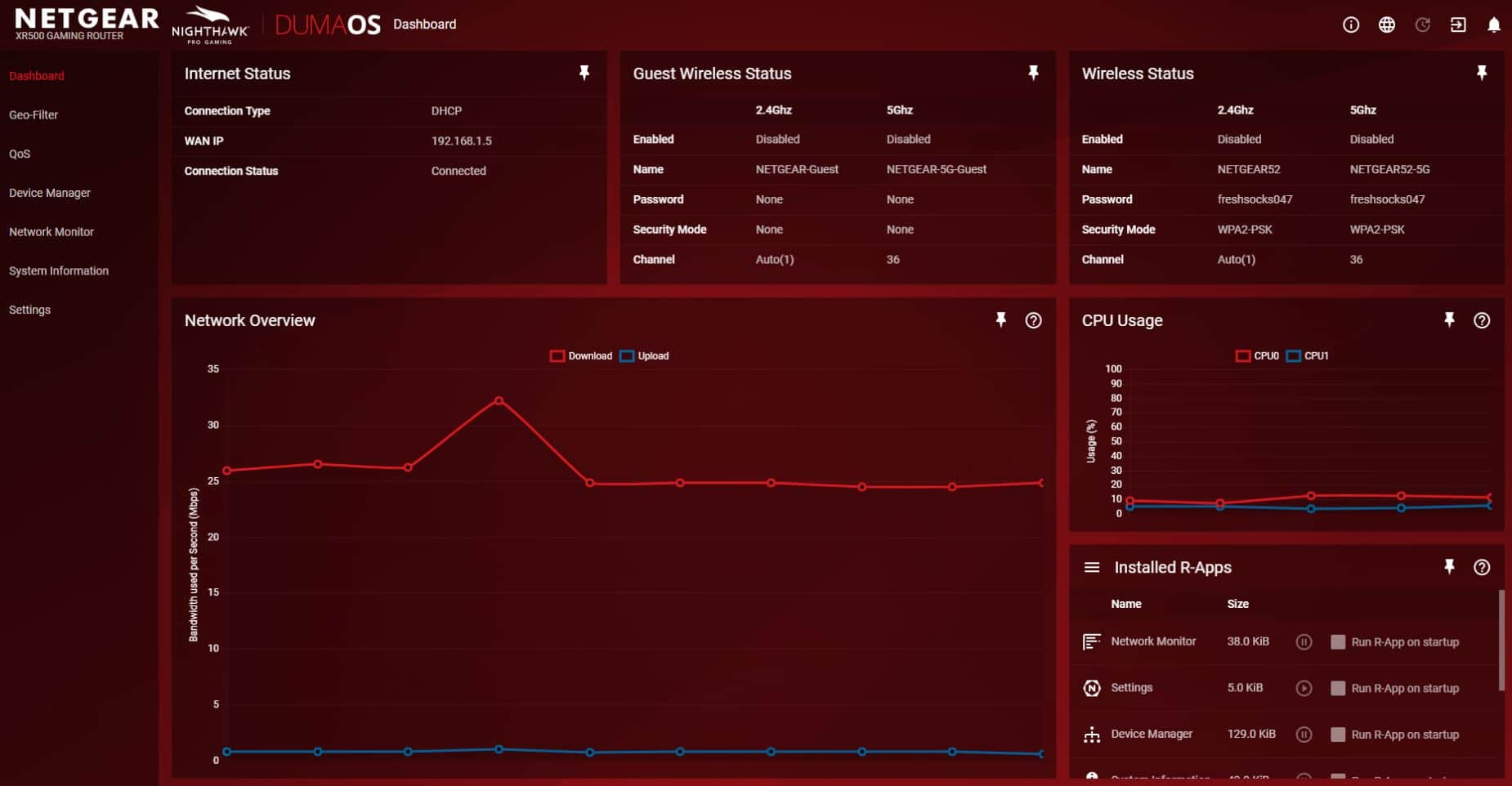 Duma OS Gaming Dashboard