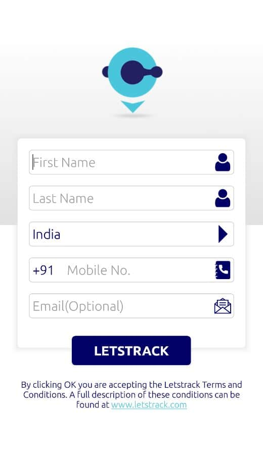 Sign up for Letstrack Tracking