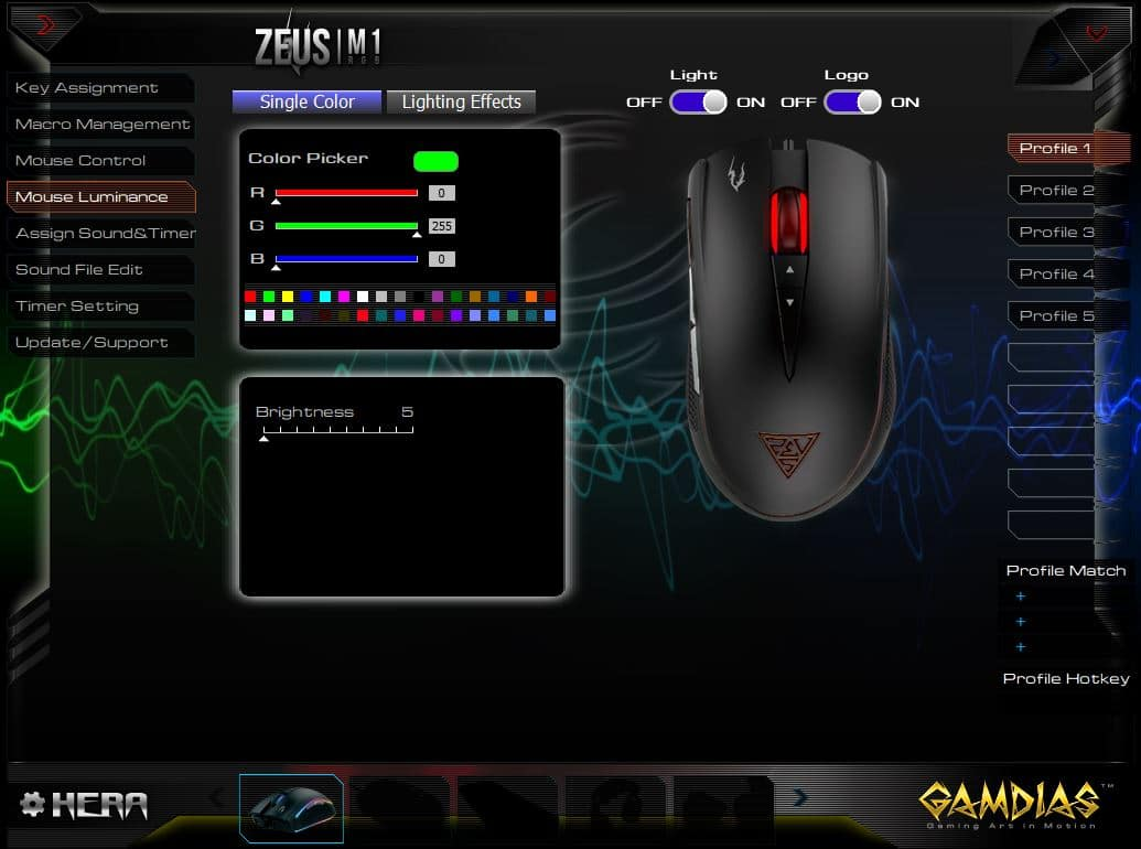 Zeus M1 Lightning Effects
