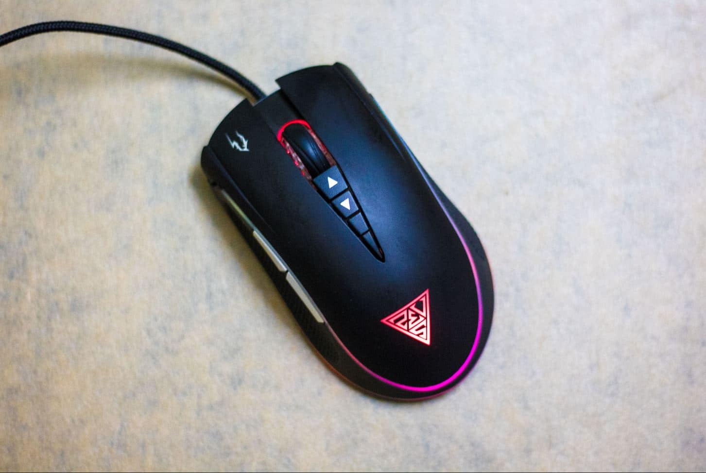 Zeus M1 Mouse with Different Light