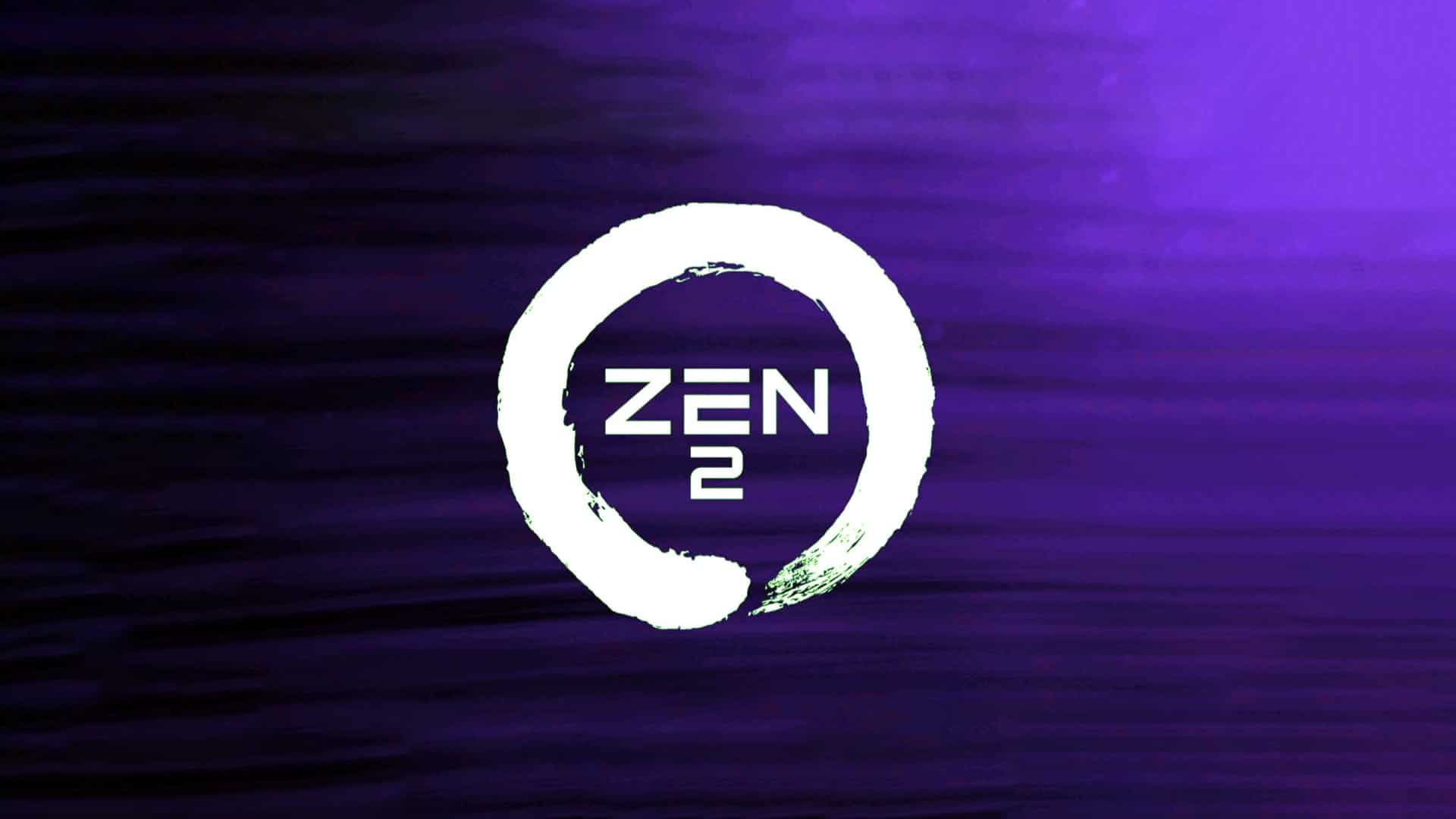 AMD Zen 2 Logo Purple